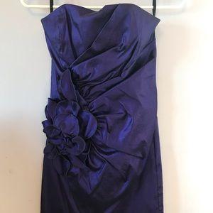 Fitted dark purple dress